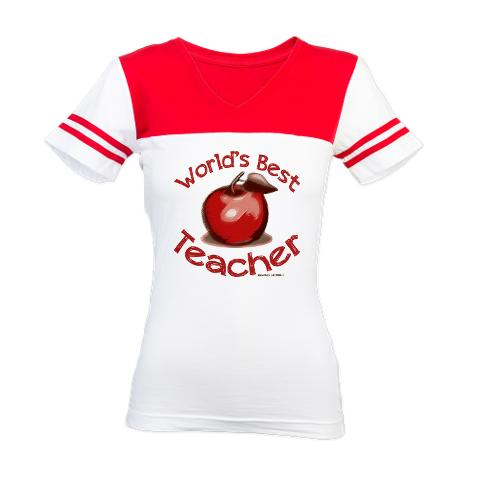 worlds_best_teacher_red_apple_jr_football_tshir